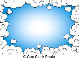 Frame clipart light blue With as Cloud background;