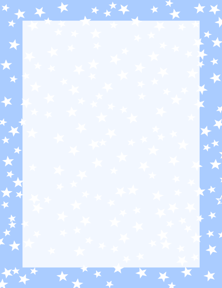 Frame clipart light blue Stars light At blue baby