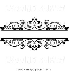 Coture clipart black and white Black Black  And a