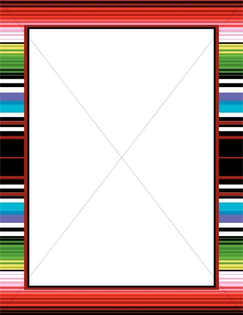 Frame clipart mexican Winter Borders Border Mexican Blanket