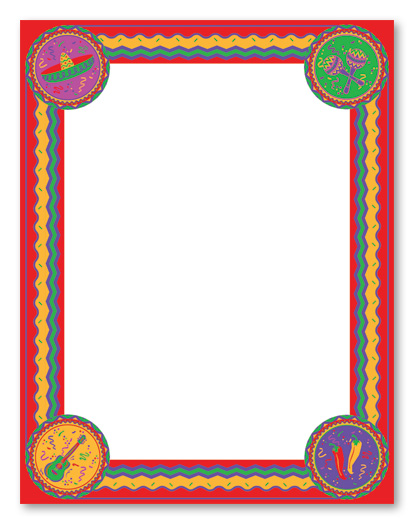 Frame clipart mexican Great Mexican frame Art Mayo