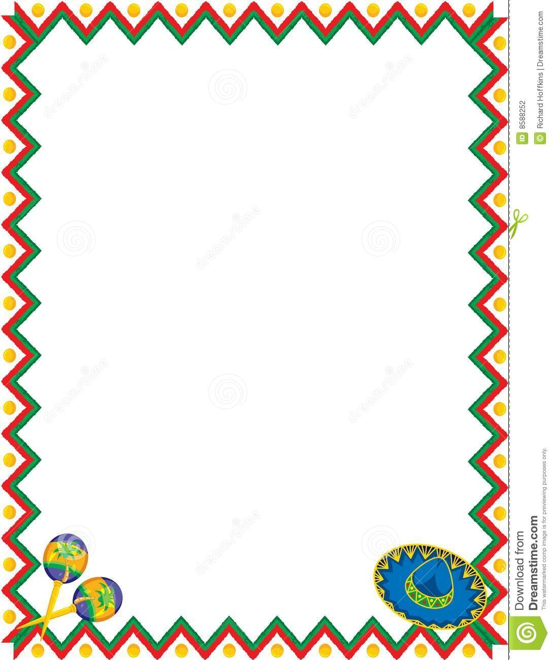 Frame clipart mexican Clipartsgram Themed Clipart Mexican Photo: