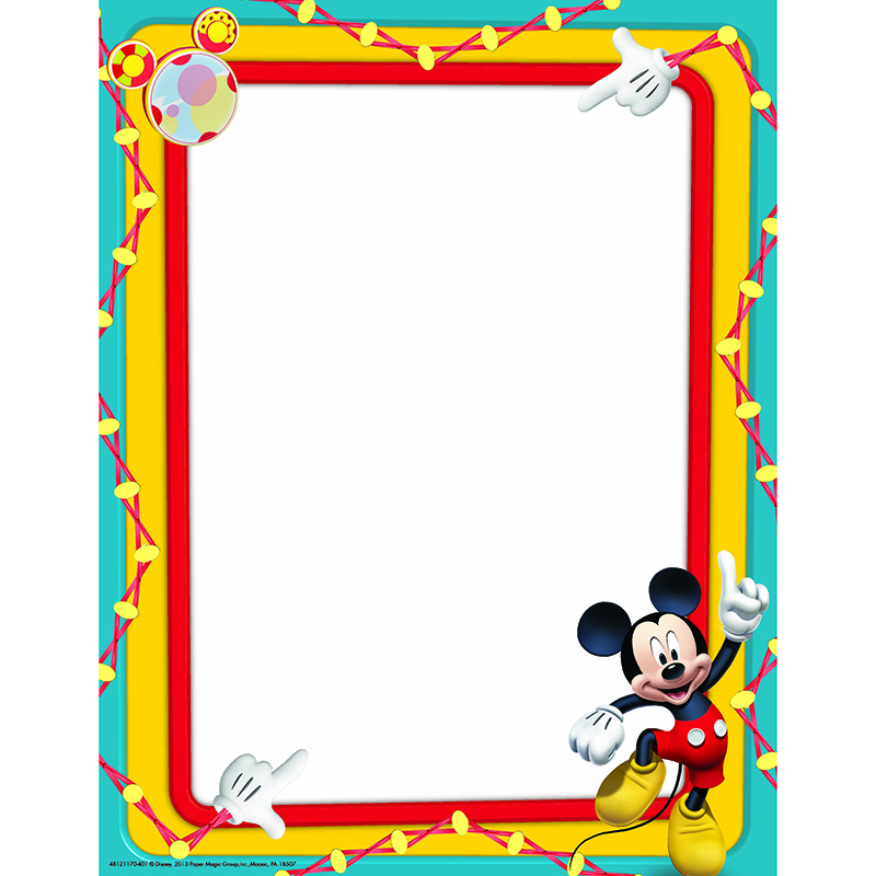 Frame clipart mickey mouse  COLORS PRIMARY CLUBHOUSE MICKEY