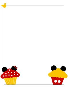 Frame clipart mickey mouse Project cupcakes Mickey Scrapbooking Card
