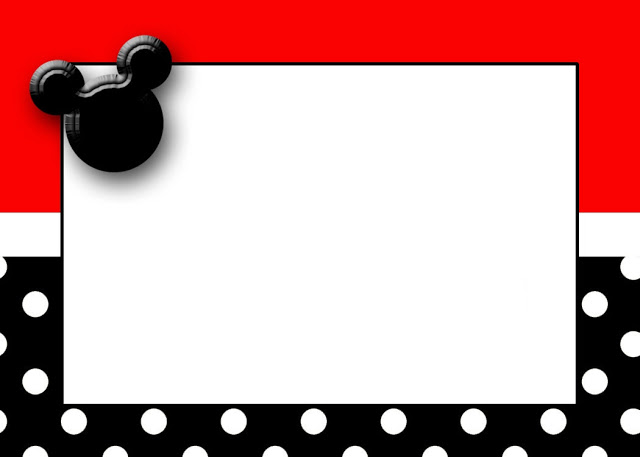 Frame clipart mickey mouse Minnie printable Free cards cards