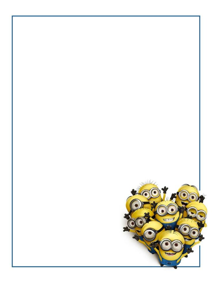 Frame clipart minion Universal Project Card Life Minions