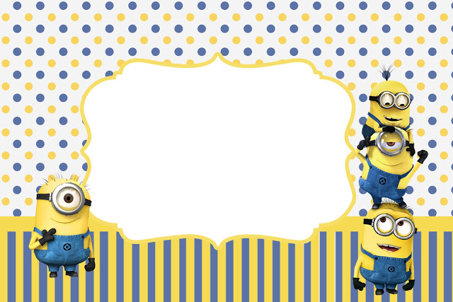 Frame clipart minion Party Invitations Inspired Free Minions
