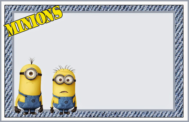 Frame clipart minion Printable invitation Funny of Free