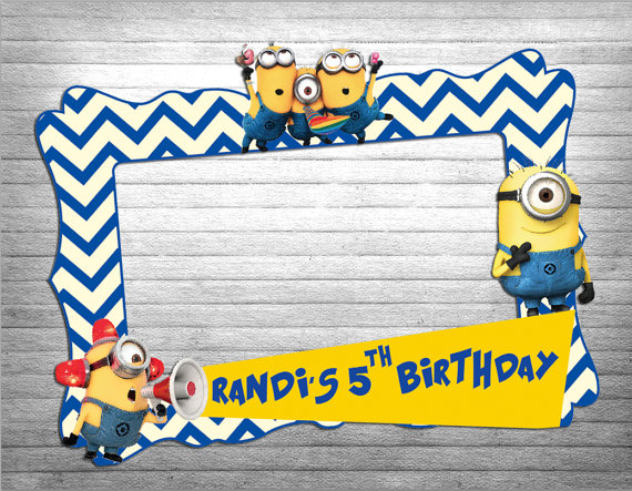 Frame clipart minion Party photo super booth Treat