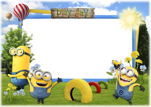 Frame clipart minion Day with Photoshop the Mini