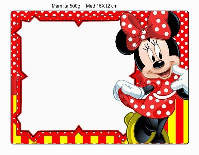 Frame clipart minnie mouse #8