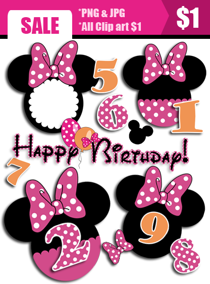 Frame clipart minnie mouse Panda Clipart Pink Free Images