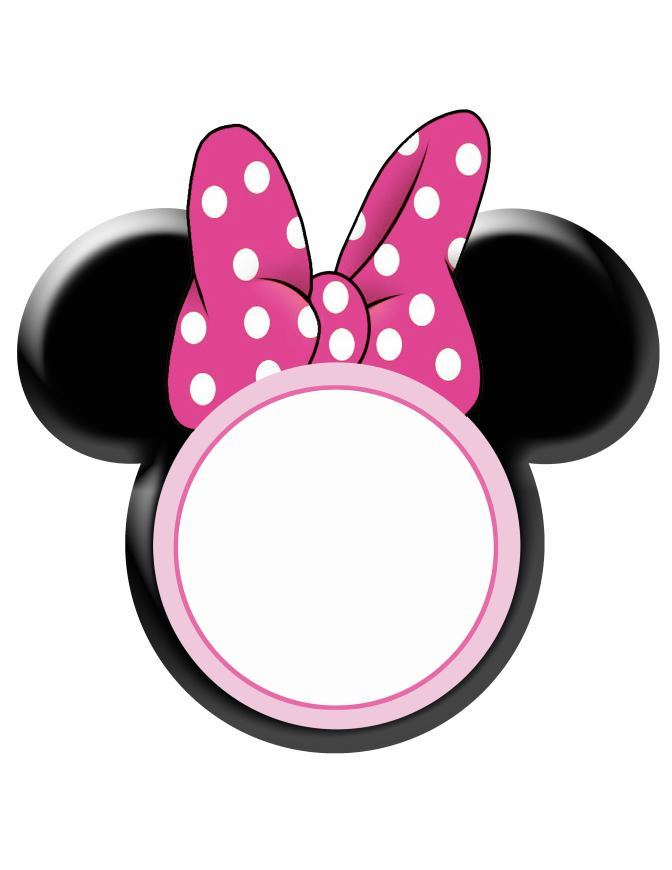 Frame clipart minnie mouse Bow Free Minnie Template Clip