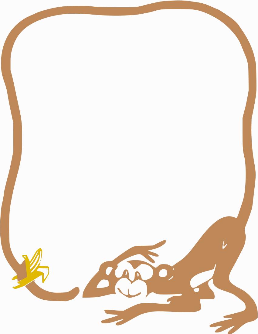 Banana clipart border Monkey html monkey /page_frames/animal/animals_2/monkey_banana_border /page_frames/animal/animals_2