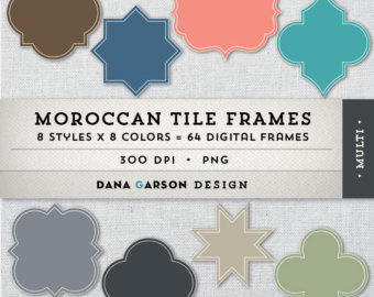 Frame clipart moroccan Stock collection frame 845 Moroccan
