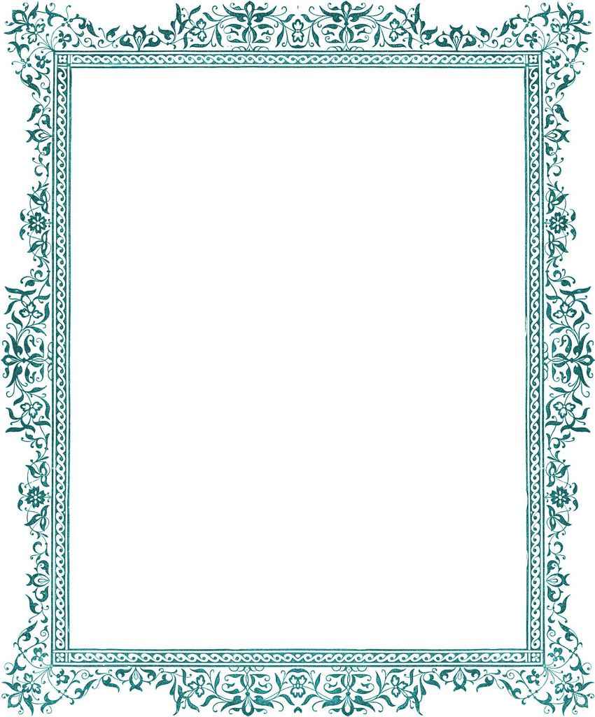 Mermaid clipart border Free PLATES Page on Free