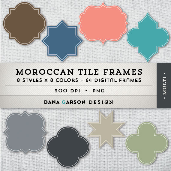 Frame clipart moroccan And for Moroccan Tile Quatrefoil