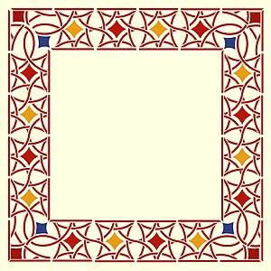Frame clipart moroccan Stencils Clipart border design clipart