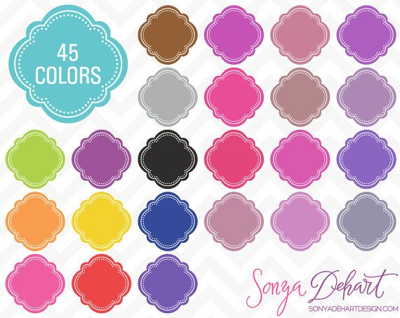 Frame clipart moroccan Clipart 45 Instant Colors Frame