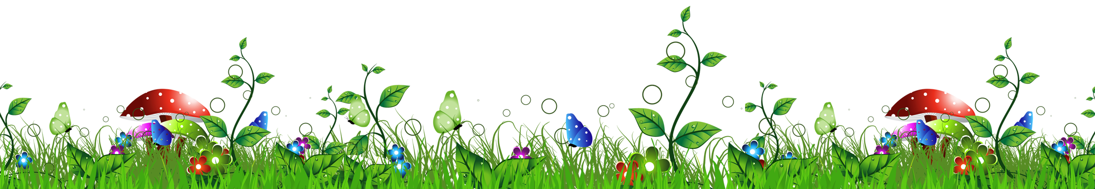 Frame clipart mushroom Full with Grass Yopriceville