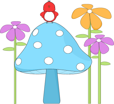 Frame clipart mushroom With and Bird Images Art