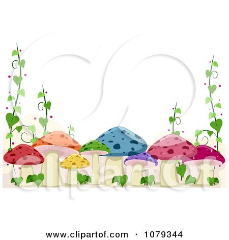 Frame clipart mushroom This Pinterest more Vine clipart