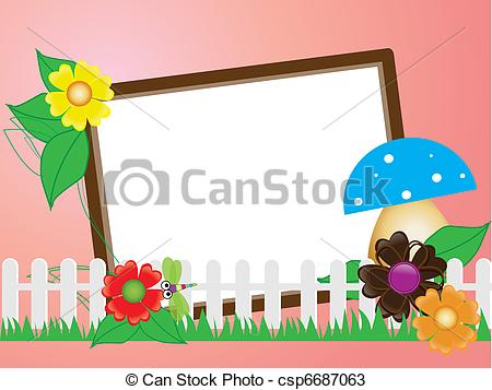 Frame clipart mushroom Scrapbook(7) fence scrapbook(7) and the