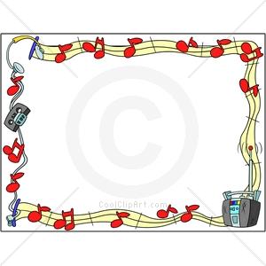 Frame clipart music Border Clipart Art Free Border
