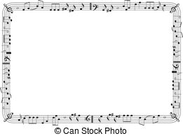 Frame clipart music 76 EPS graphic Vector Musical