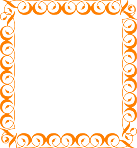 Frame clipart orange  Art clip Elegant Elegant