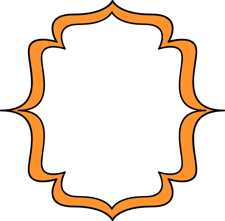 Frame clipart orange Art Free and Double Art