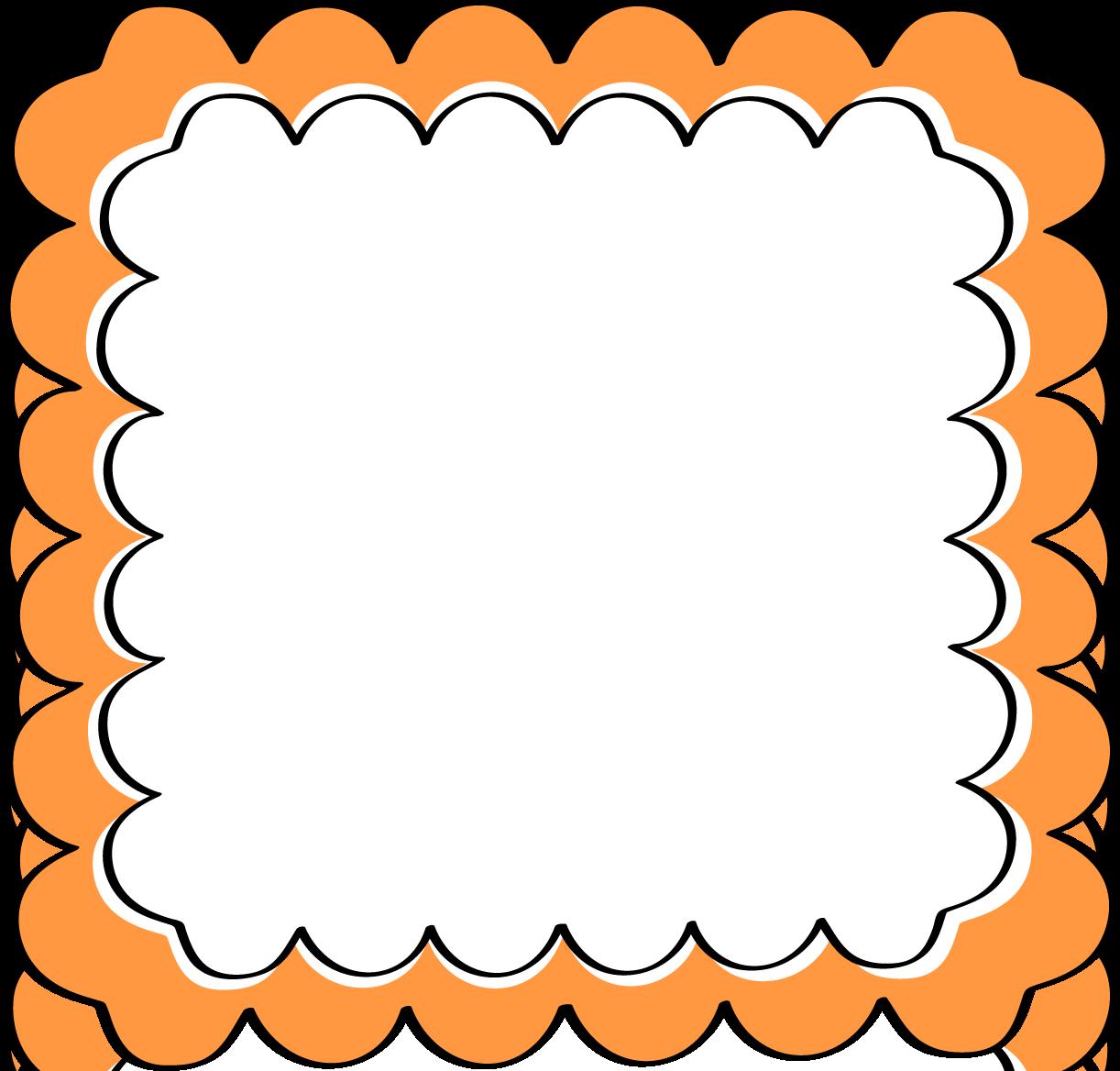 Frame clipart orange Scalloped Scalloped Free Orange Clip