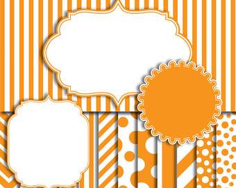 Frame clipart orange Orange clip : digital chevron