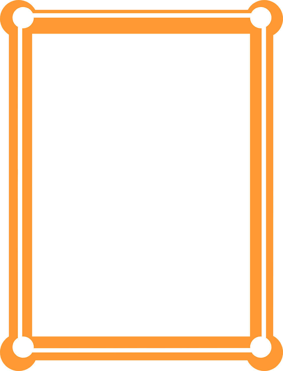Frame clipart orange Free Orange Photo blank Border