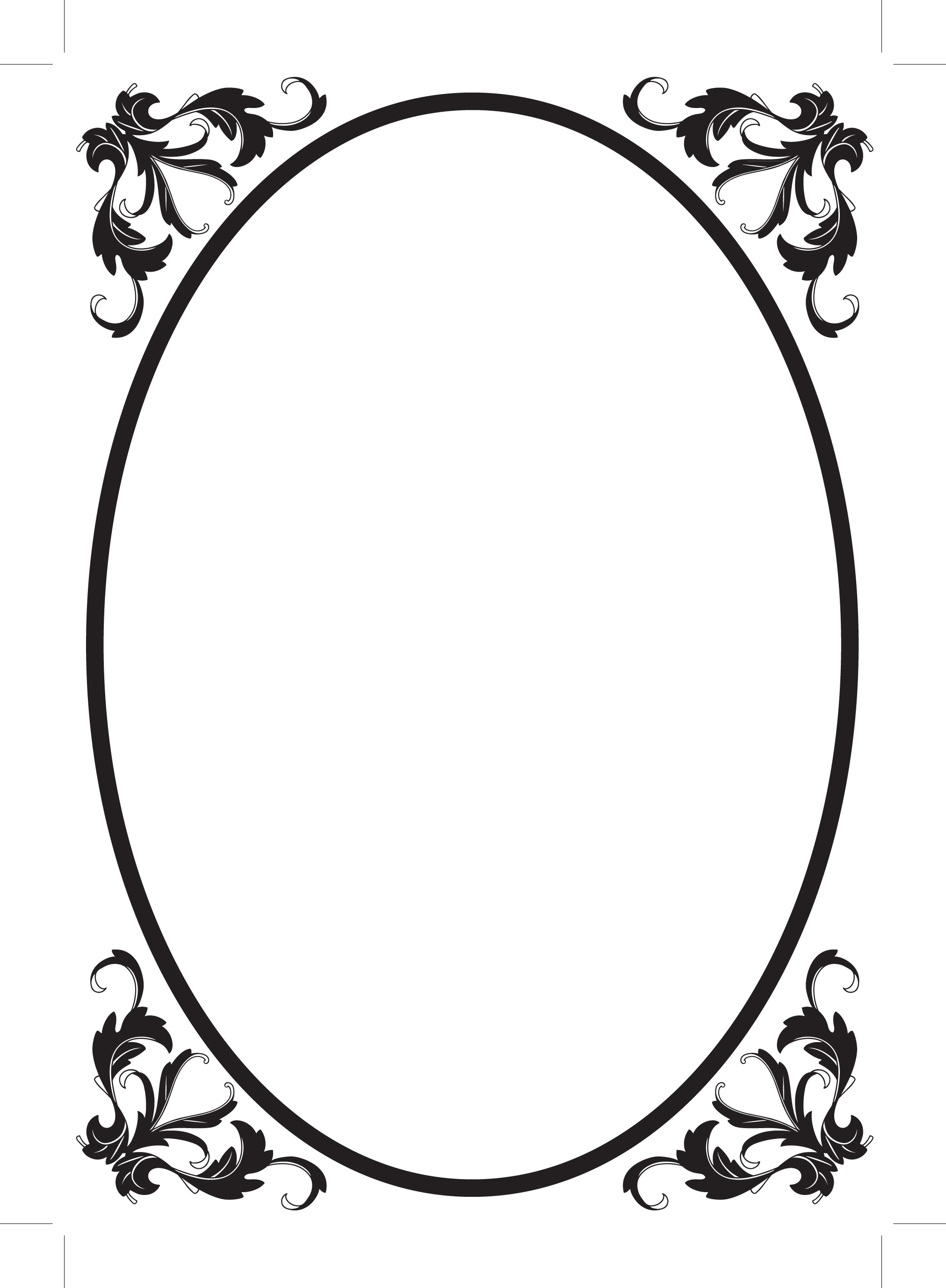 Squares clipart filigree Frame Oval kid clipart Oval