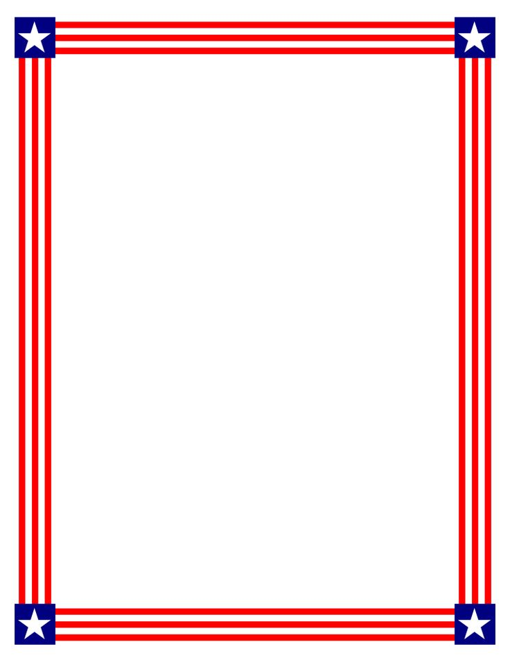 Frame clipart patriotic And FreeBordersAndClipArt and best images