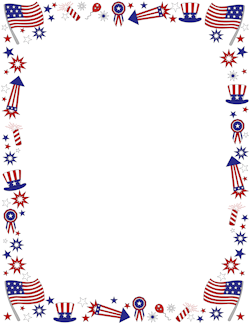 Frame clipart patriotic Page and Border Patriotic Graphics