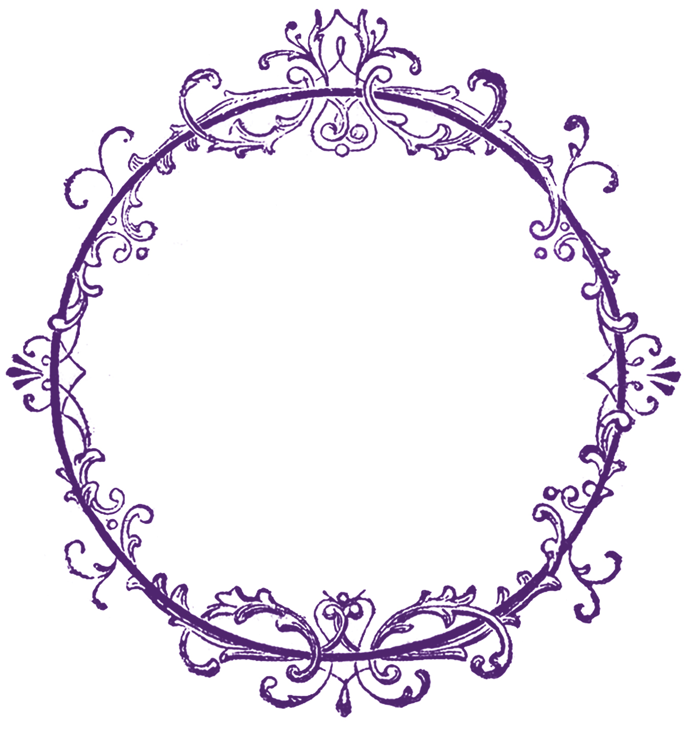Purple Rose clipart fancy heart Clip Free Frame Art