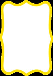 Frame clipart quatrefoil Art Yellow Clker vector at