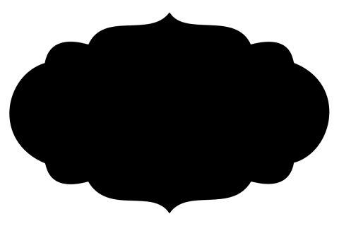 Frame clipart quatrefoil Black Clipart – Shapes Art
