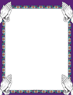 Frame clipart religious Borders folded  are The