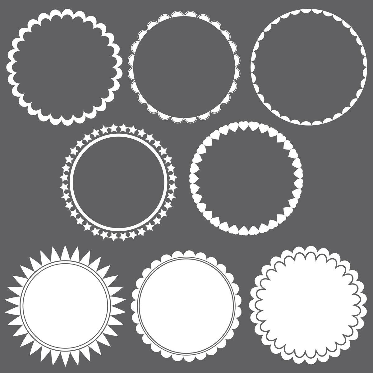 Frame clipart round Digital Promo Frame frames Circle