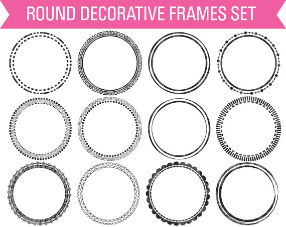 Frame clipart round Digital Digital Clipart Circle Frame