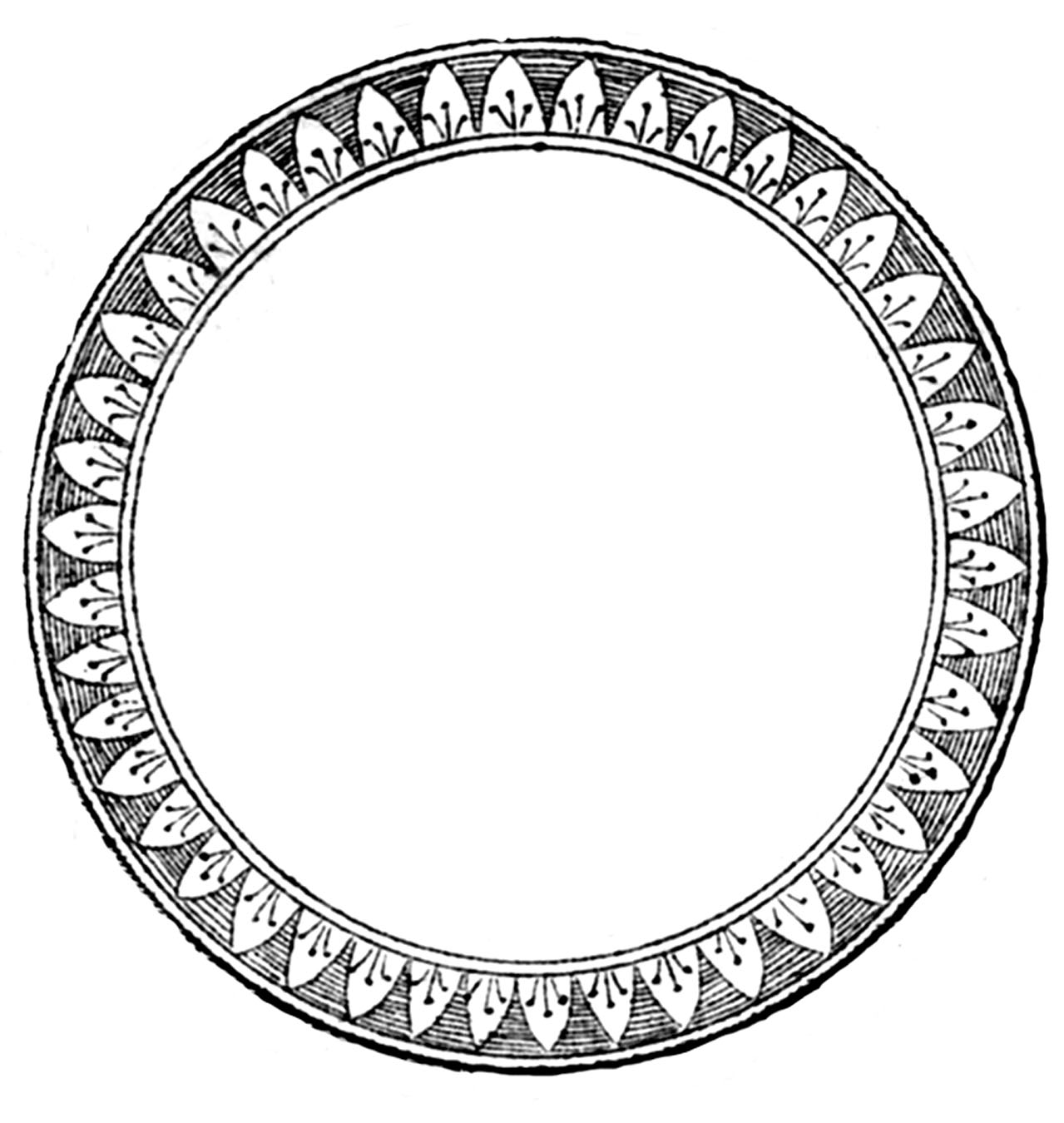 Frame clipart round Label French Vintage Round Frame