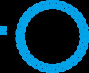 Blue clipart round frame Blue online com Clker Blue