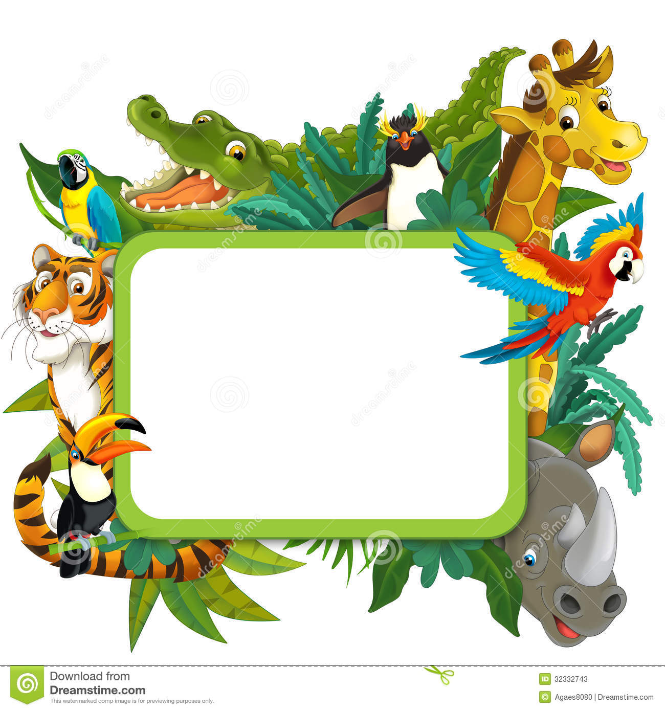 Frame clipart safari Frame Children The For Jungle