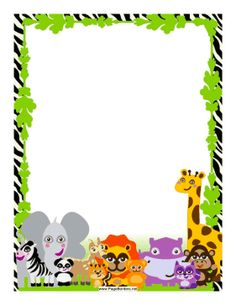Frame clipart safari Free on background Border set