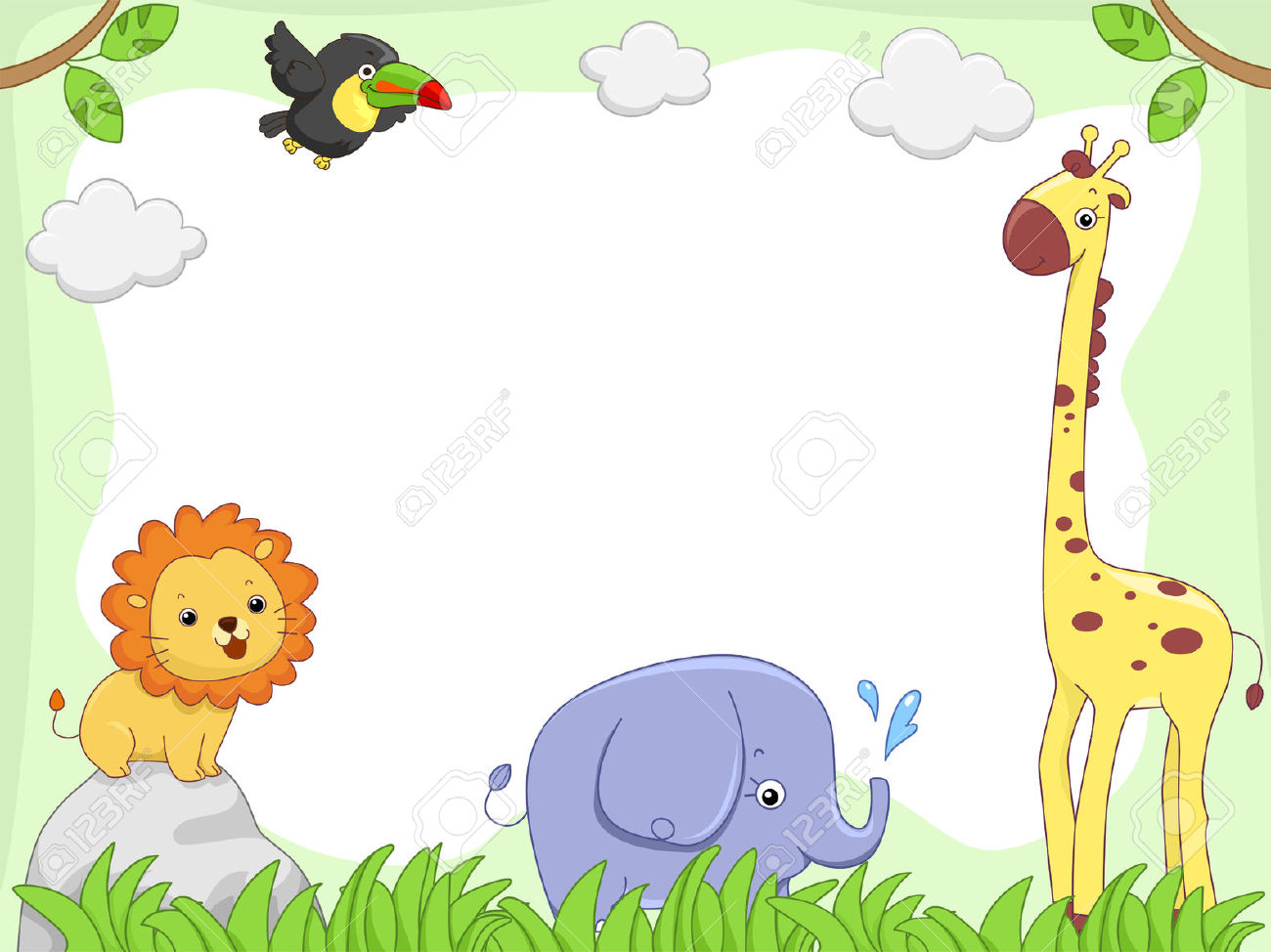 Frame clipart safari Animals Collection Clipart Photography Stock