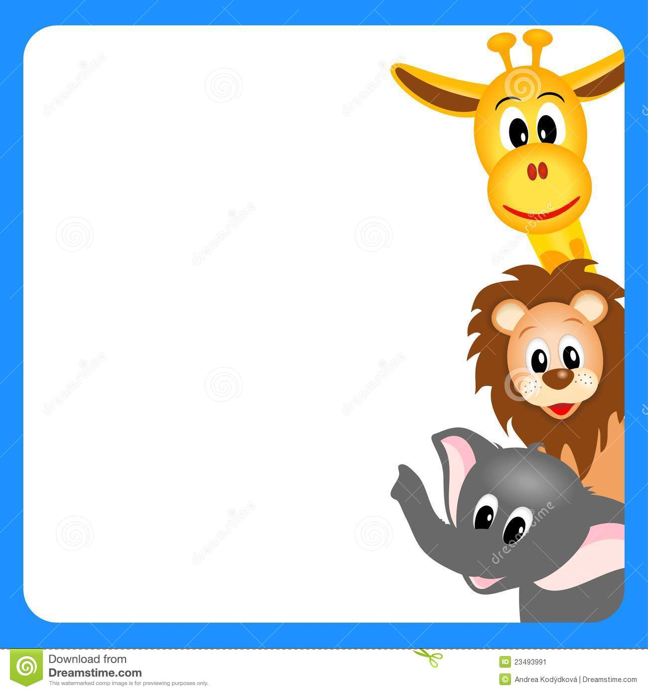 Frame clipart safari Cliparts Clipart border Zoo collection