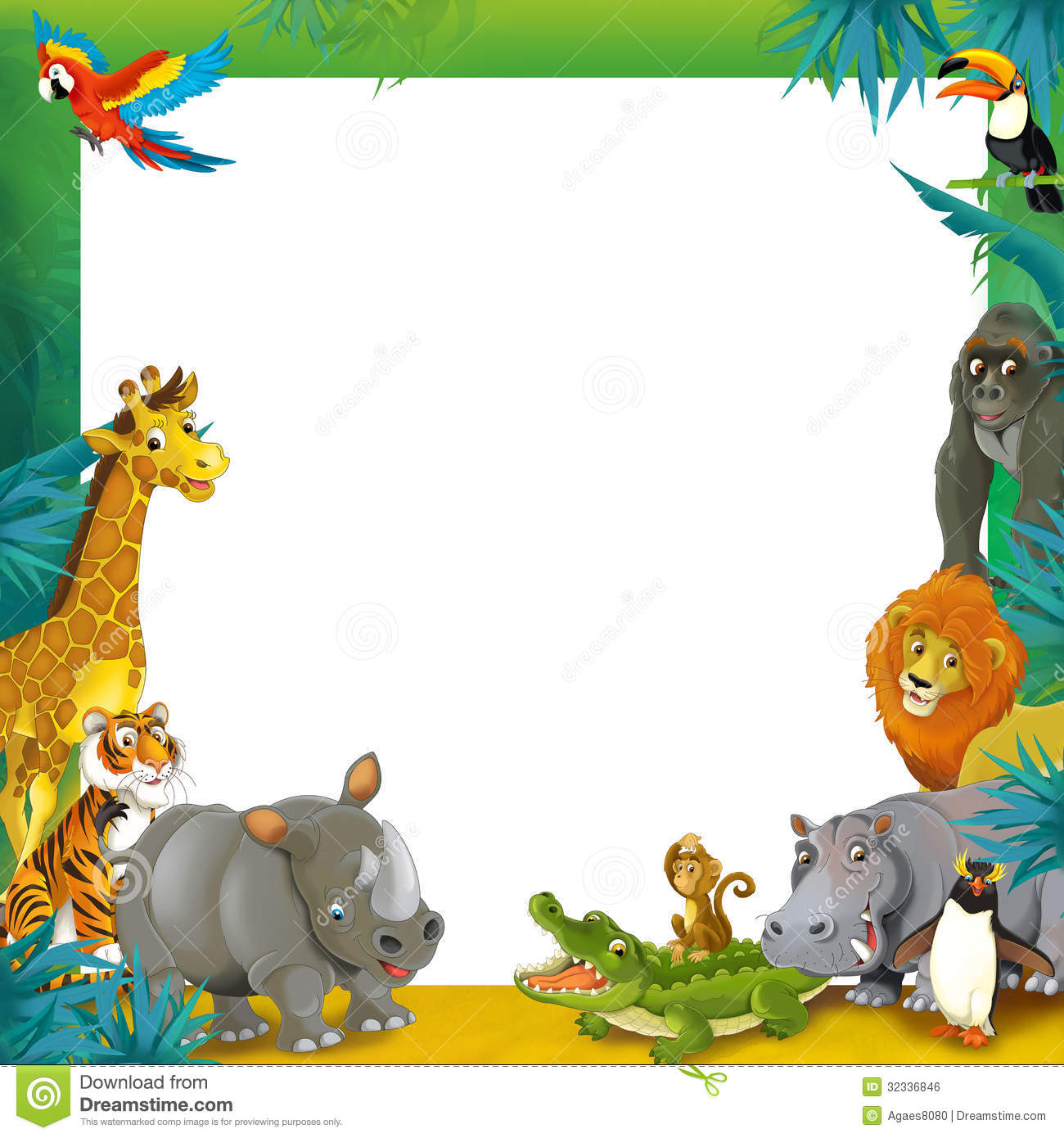 Frame clipart safari Clipart Frames Safari Download Frames